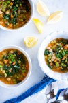 Healthy Mexican pasta and veggies soup
