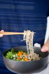 Vegan soba buckwheat noodle recipe with an amazing 6 ingredient cashew sauce.