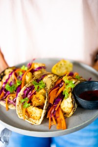Chipotle roasted cauliflower tacos