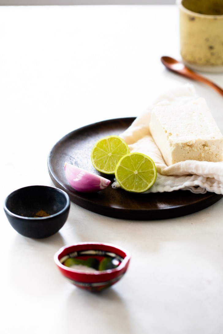 ingredients for vegan mexican crema