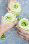 Alcohol-free pineapple-mint margaritas