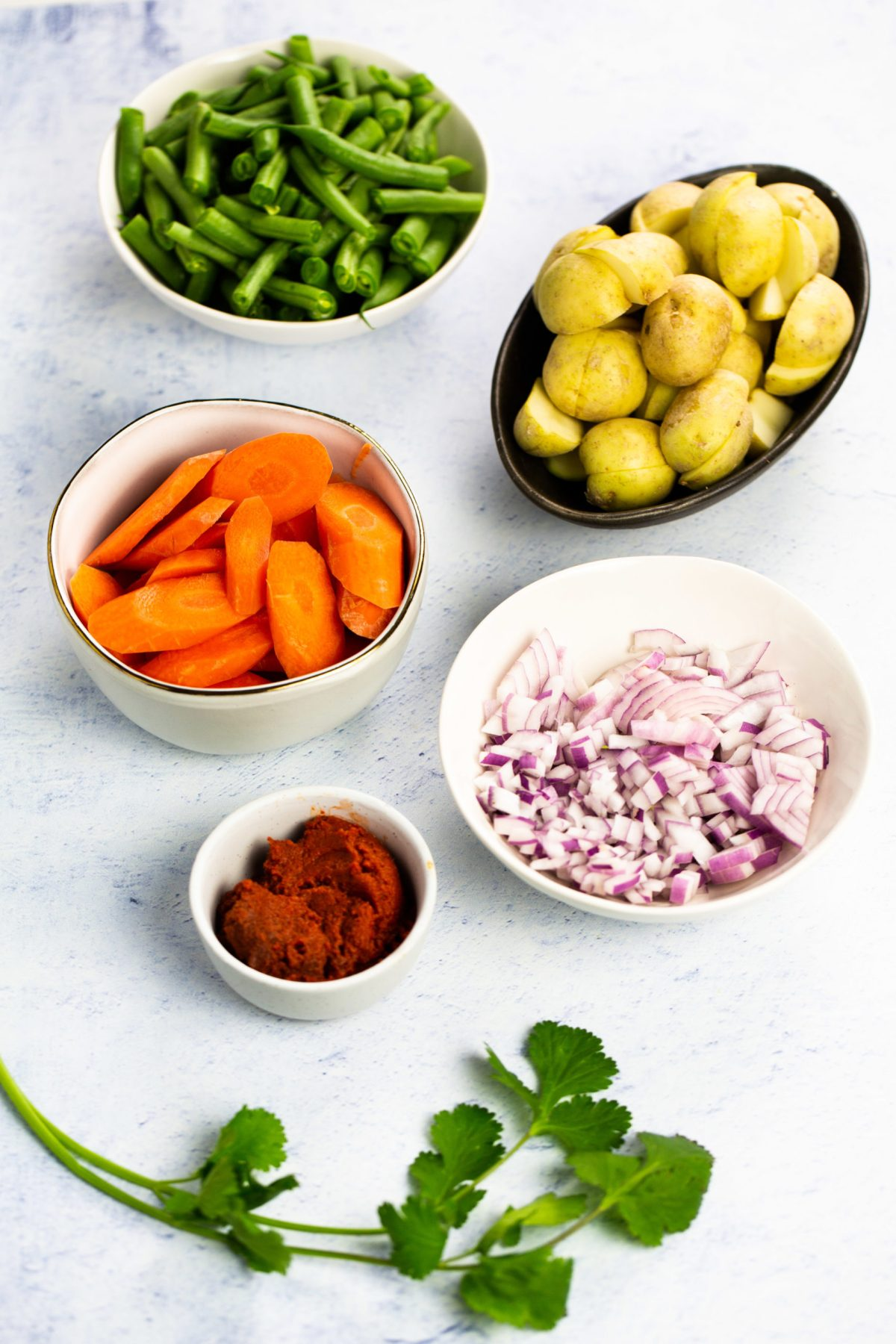 ingredients for Easy vegan Thai curry