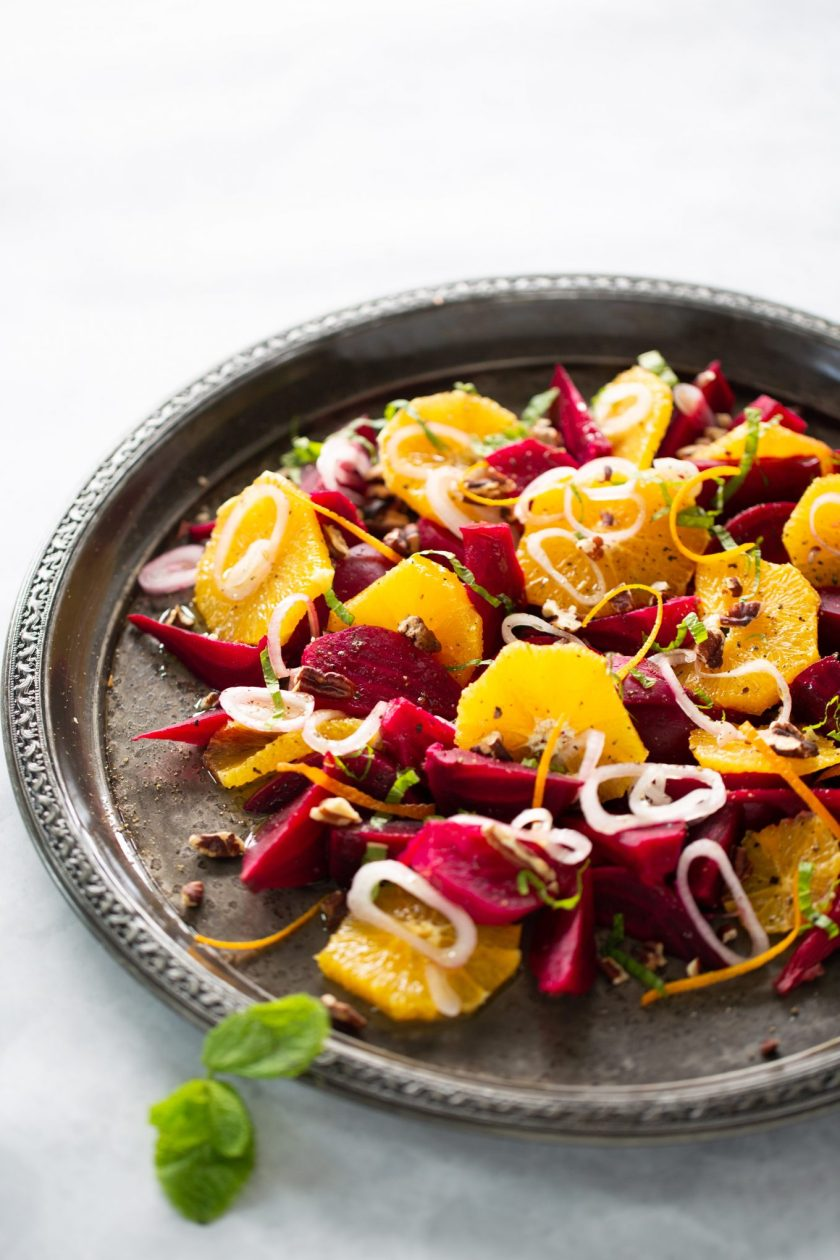 Mexican beet and orange salad