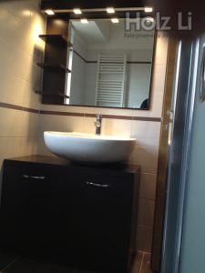 mobili da arredo bagno in Wengè su misura