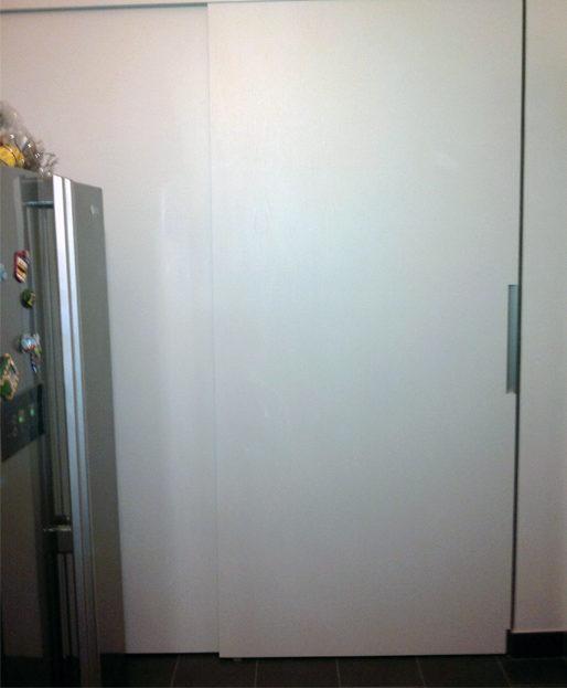 armadio a muro per dispensa anta scorrevole
