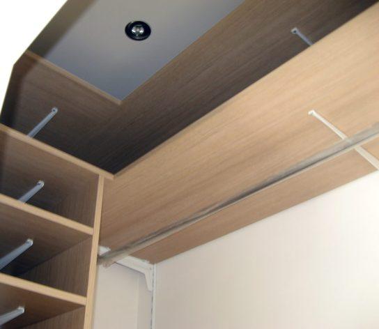 Cabina armadio con illuminazione led su misura
