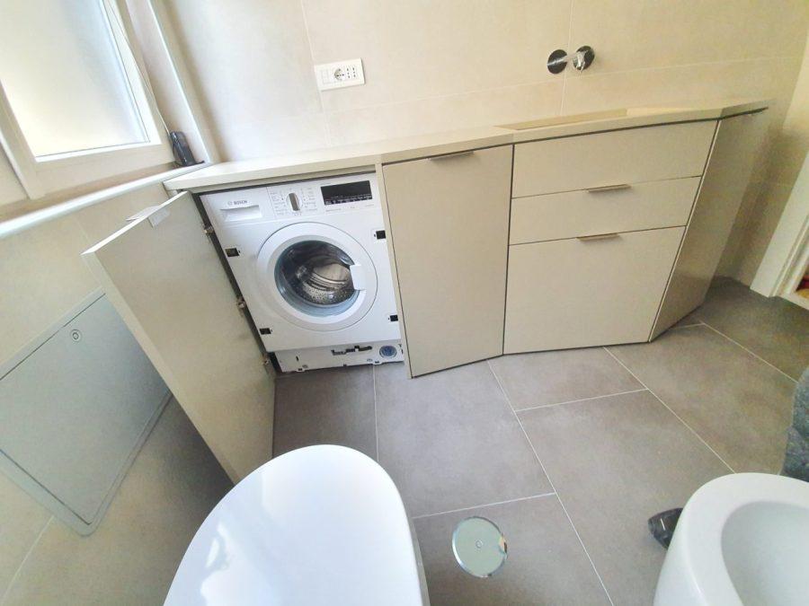 mobile bagno su misura vano lavatrice