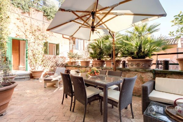 Terrace Of An Apartment Al Near Pantheon Rome By Gowithoh