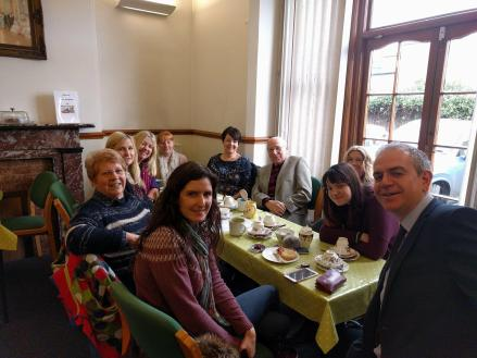 Coffee with Comrades at Oban House