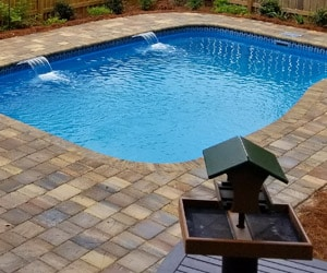 New Pool Installation of pool interior finishes and tile. Fiberglass Pool Sales In The Greater Jacksonville Nc Region Barrier Reef Usa