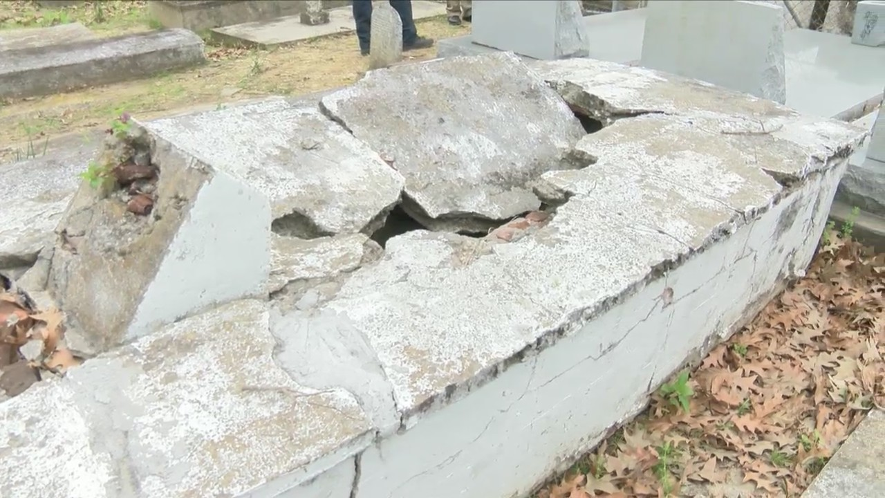 Man accused in theft of remains from Sweet Olive Cemetery