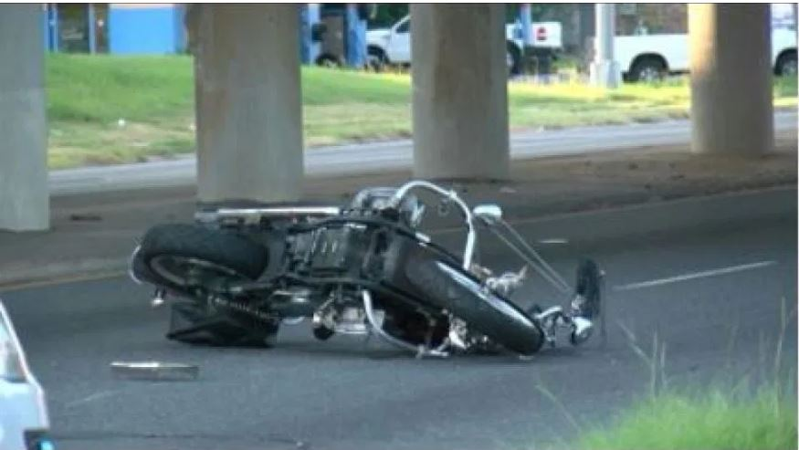 Motorcyclist fights for life after a hit and run in