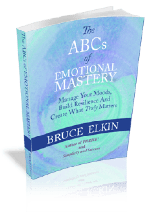 3-D image of the book, The ABCs of Emotional Mastery, by Bruce Elkin.