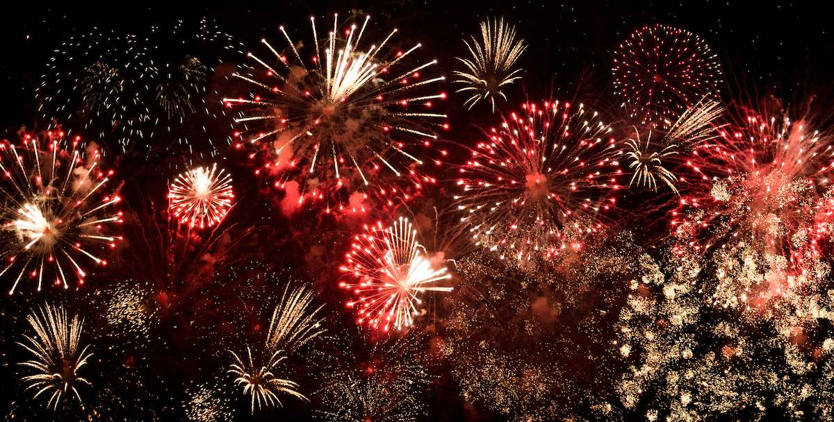 New Year's firework display to celebrate successful resolutions