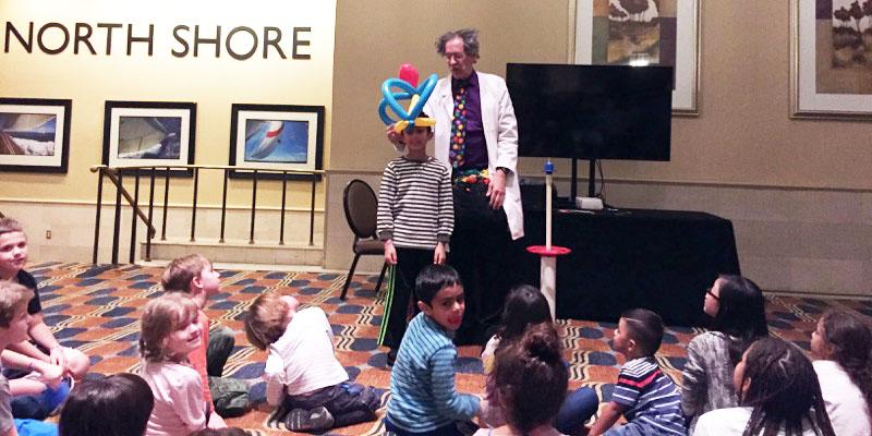 Teaching kids to twist balloons