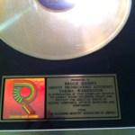 RIAA GOLD RECORD AWADEH
