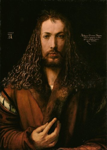 Albrecht Dürer Self-Portrait with Fur-Trimmed Robe, 1500