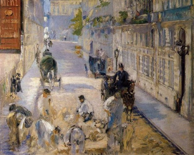 Roadmenders in the rue de Berne, Eduard Manet