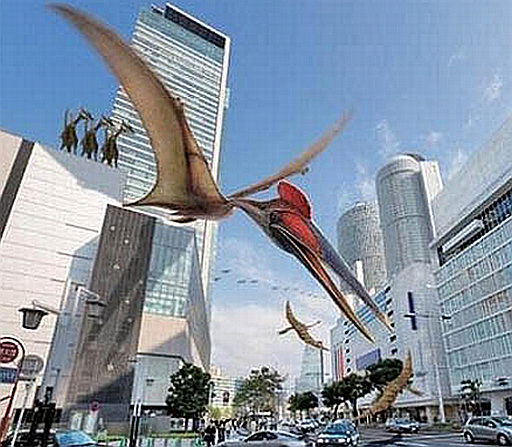 Dinosaurs seen flying near London