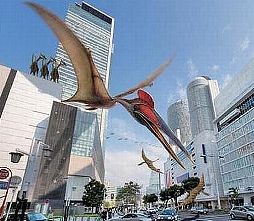 Dinosaurs seen flying near London