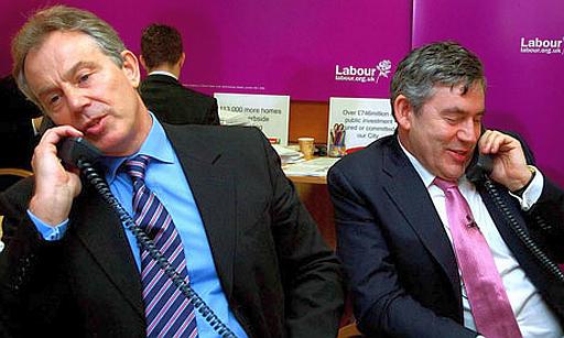 Gordon Brown and Tony Blair.