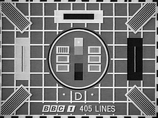 BBC black and white test card