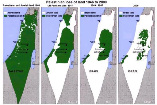 Palestine map. Big