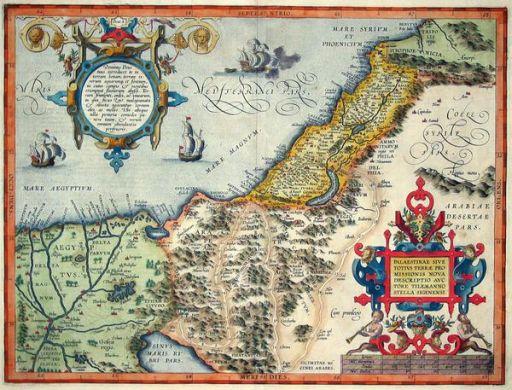 Paqlestine map 1570 512
