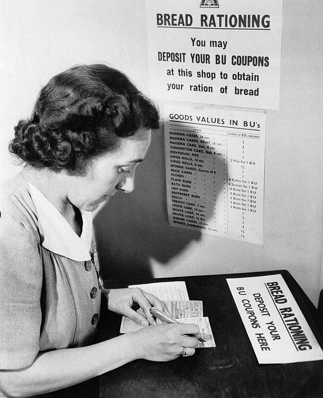 WWII Europe British Isles Defense Food Rations Cards
