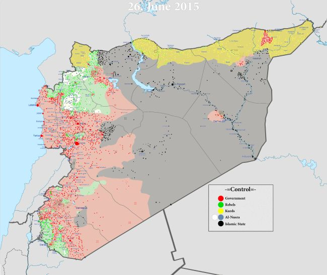 Syrian map, civil war, 650