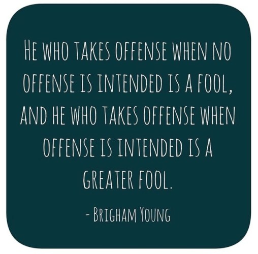 Taking offence