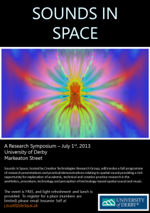 Sounds In Space 2013 Poster