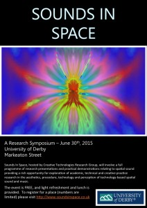 Sounds in Space 2015 Poster