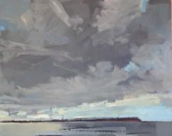 Grey Skies, Whitstable. Image size 36 x 26cm framed 59 x 49cm