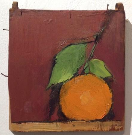 orange. 2017. Oil on mahogany. 12 x 13cm. £95