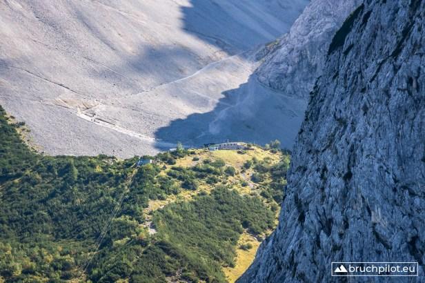 Blick auf die Dammkarhütte