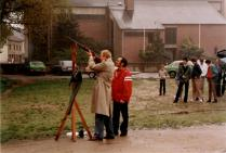 1984 Der kommende Schützenkönig Herbert Fervers unter Assistenz von Hans-Jakob Gerads