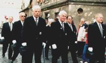 2001 Vorstand: Dieter Lencer, Karl-Heinz Pape, Pater Franz, Josef Jöcken, Herbert Fervers