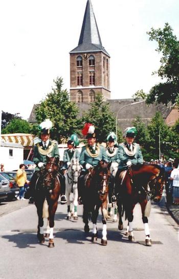 2003 Die Reiteroffiziere Ernst Winterhagen, Frank Pechtheyden, General Karl-Heinz Strauchen, Daniel Schlagheck, Friedel Wartmann
