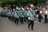 Der 1. Jägerzug bei der Parade am Pfingstsonntag ...