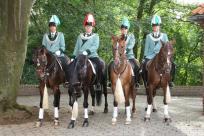 2011 Die Reiteroffiziere Roger Wintzen, General Ralf Axer, Dennis Pappers, Daniel Schlagheck