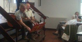 Georg Wimmers konnte alle auf Platt zum mitsingen (wobei Herbert natürlich hier nicht gesungen hatte, sondern nur die Zugabe ankündigte) und ...
