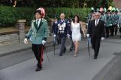 Gefolge mit Königspaar Doris und Hans-Peter Kaulhausen