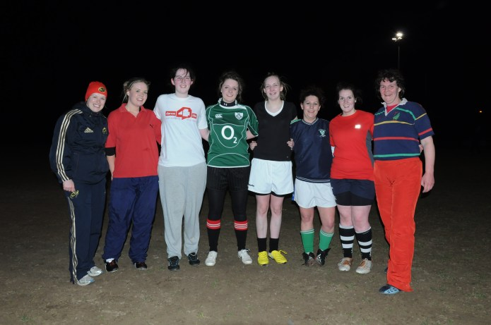 Bruff Ladies on first training night, Friday 23rd March, 2012
