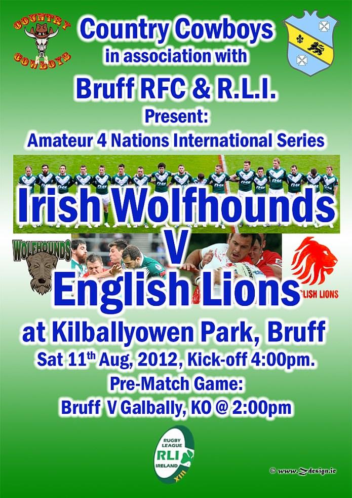 Rugby League international in Kilballyowen Park.