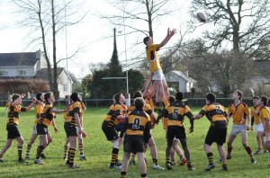 Action from the u16s Game with Young Munsters