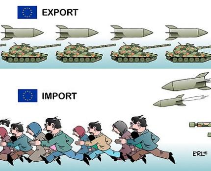 Vluchtelingenstroom deels gevolg van wapenexportbeleid