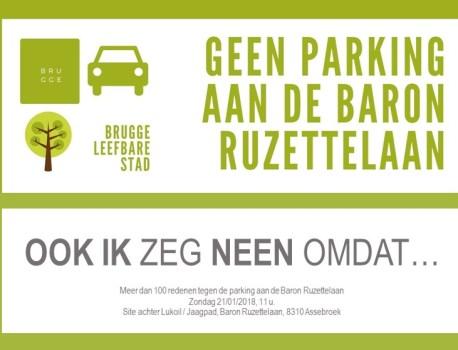 Actiegroep zegt neen tegen randparking Baron Ruzettelaan