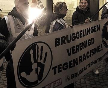 150-tal Bruggelingen verzamelen voor solidariteit en tegen racisme