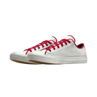 Bruid Converse Mono white red bruidssneakers.nl